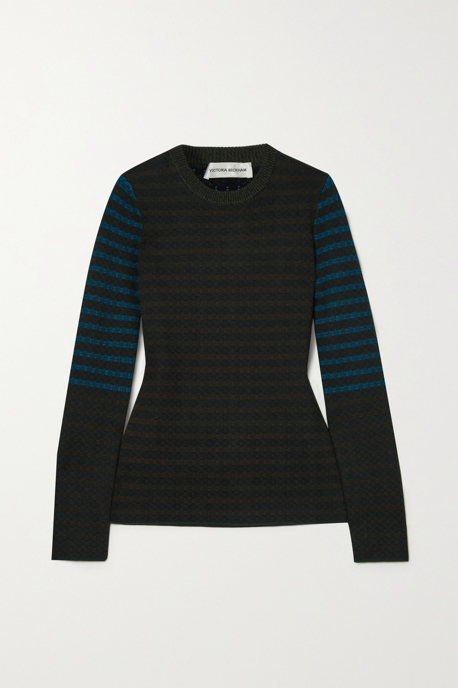 Victoria Beckham Cotton jacquard-knit sweater