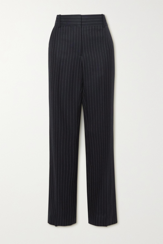 Victoria Beckham Pinstriped wool-twill straight-leg pants