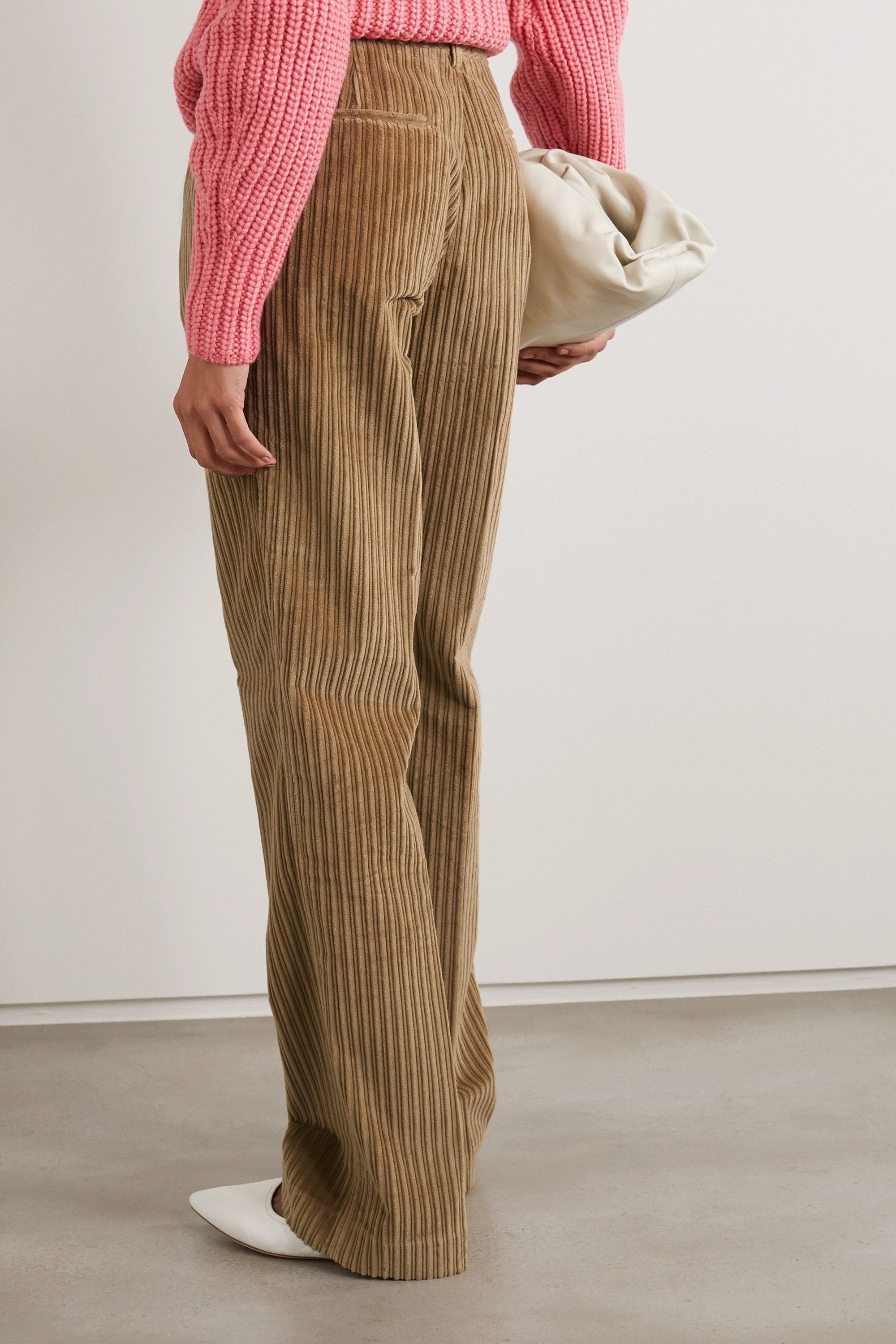 Victoria Beckham Cotton-corduroy straight-leg pants