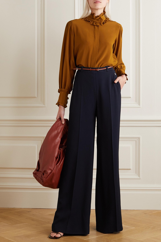 Victoria Beckham Ruffled silk-chiffon blouse