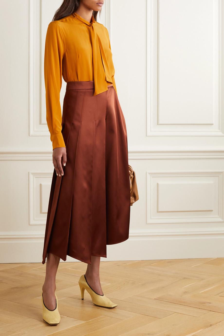 Victoria Beckham Pussy-bow silk crepe de chine blouse