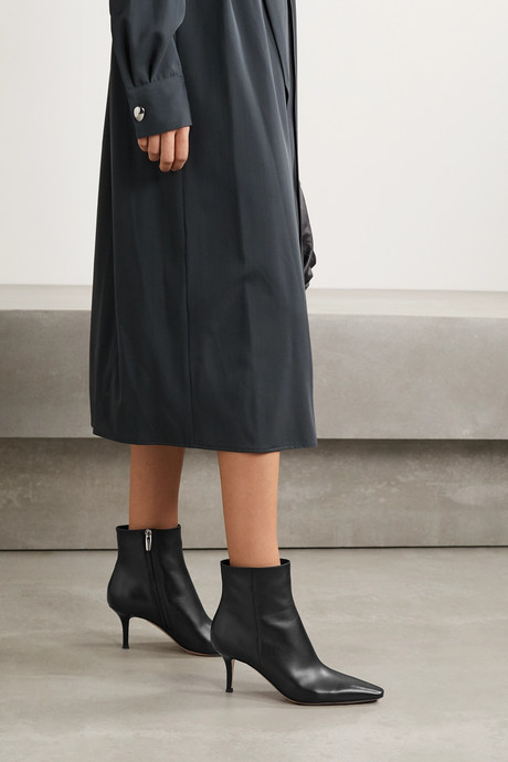 70 leather ankle boots