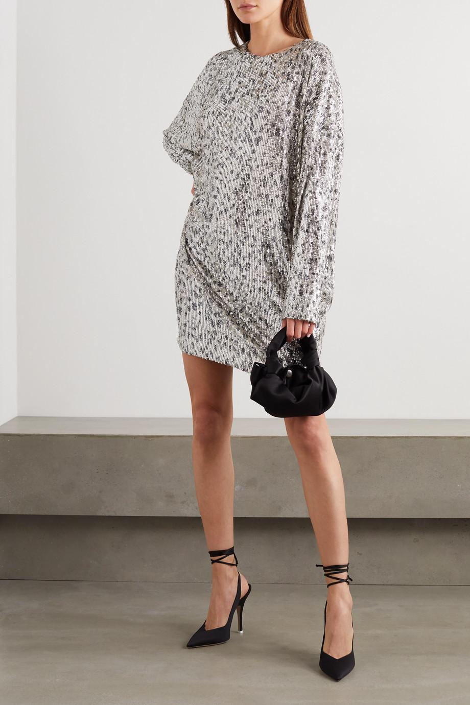 In The Mood For Love Alexandra Kleid aus Stretch-Tüll mit Pailletten