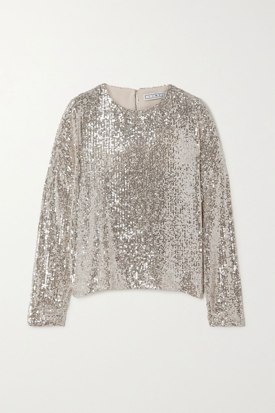 In The Mood For Love Alexandra sequined stretch-tulle top