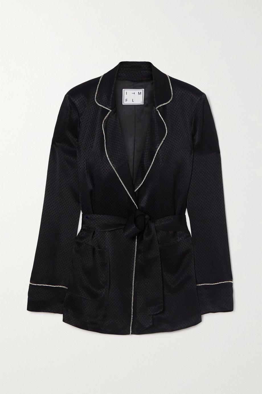 In The Mood For Love Hugh crystal-embellished satin-jacquard blazer