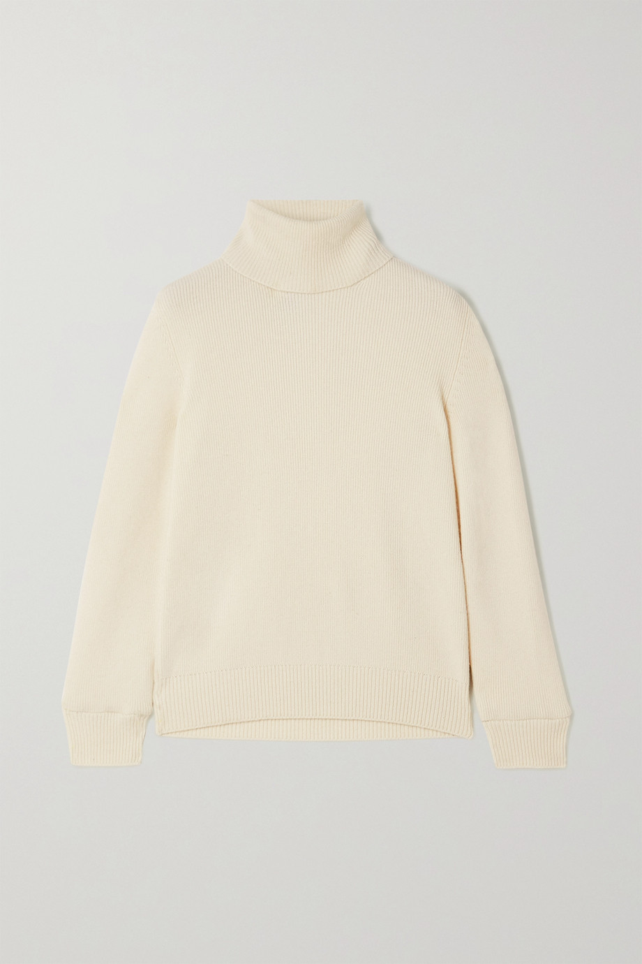 SAINT LAURENT Ribbed cashmere turtleneck sweater