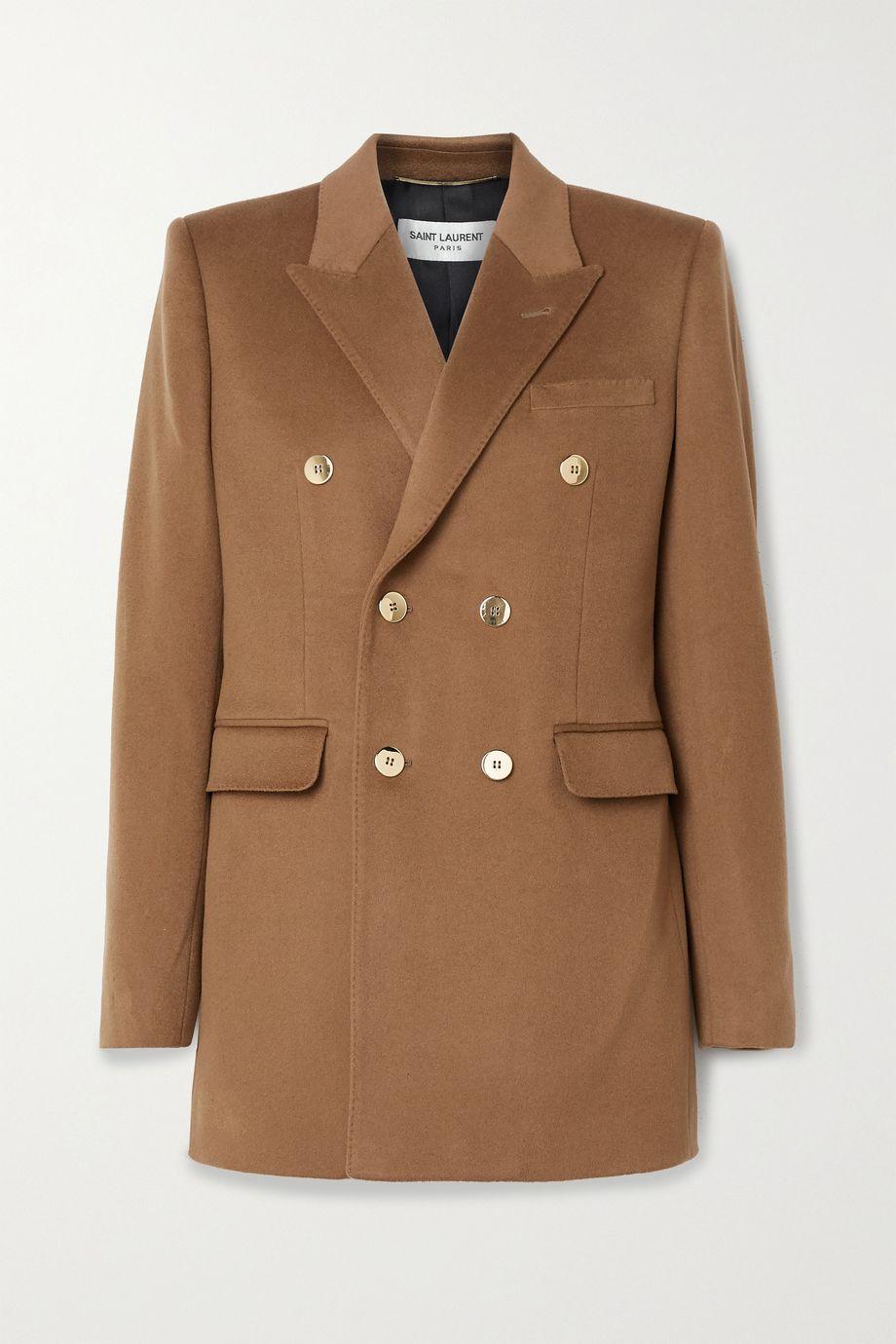 SAINT LAURENT Wool and cashmere-blend blazer