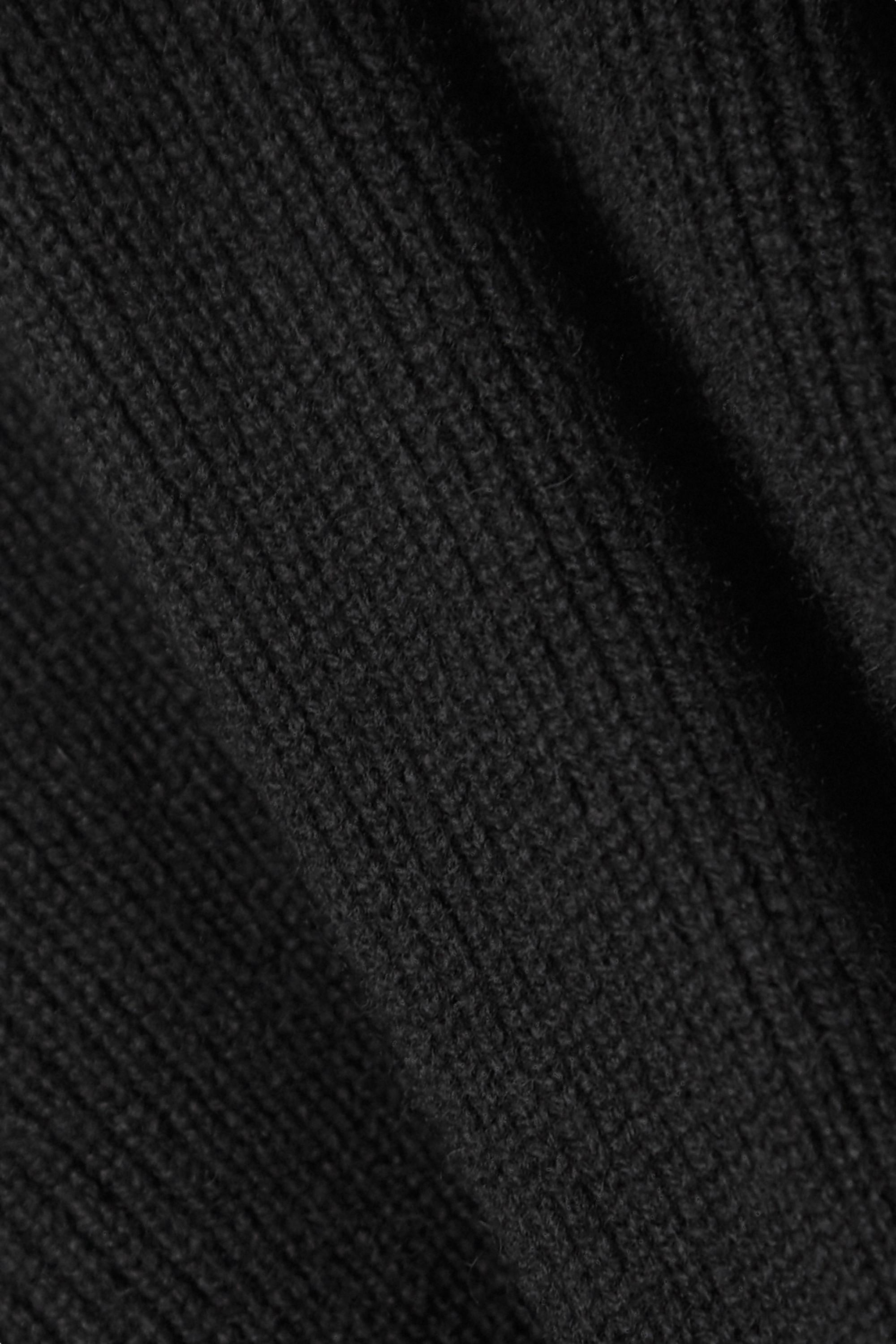 SAINT LAURENT Ribbed cashmere turtleneck sweater