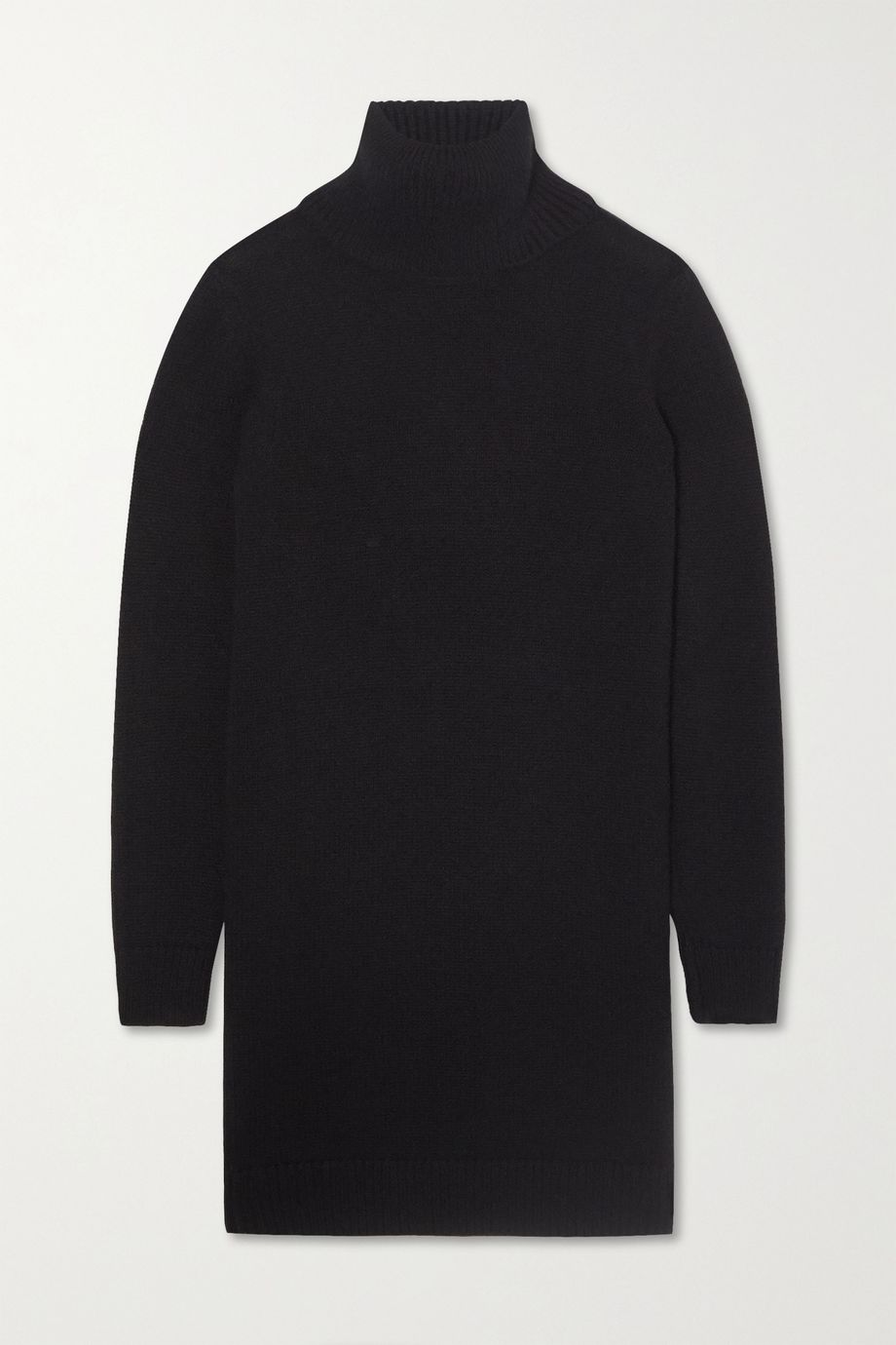 SAINT LAURENT Cashmere turtleneck mini dress