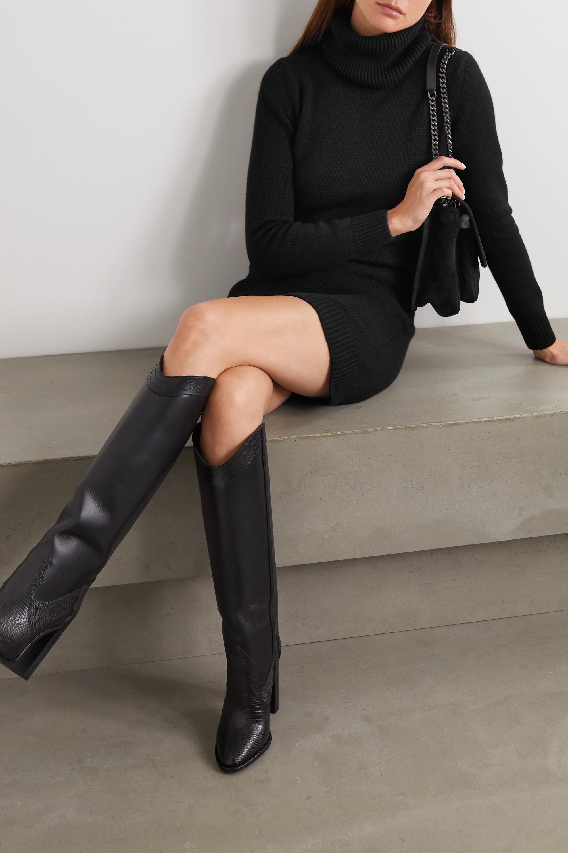SAINT LAURENT Cashmere turtleneck mini dress