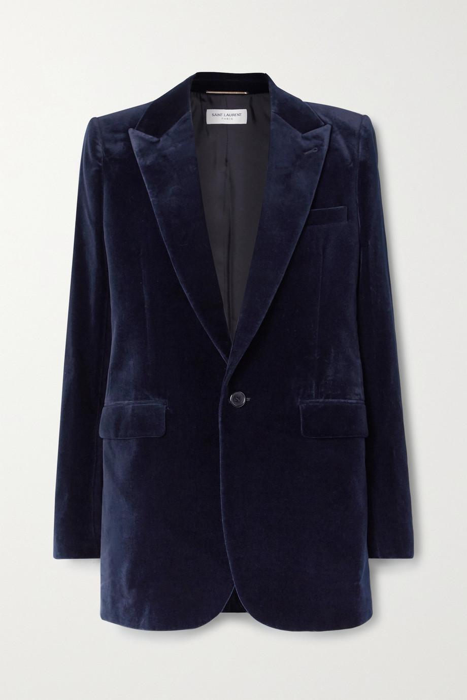 SAINT LAURENT Blazer aus Baumwollsamt
