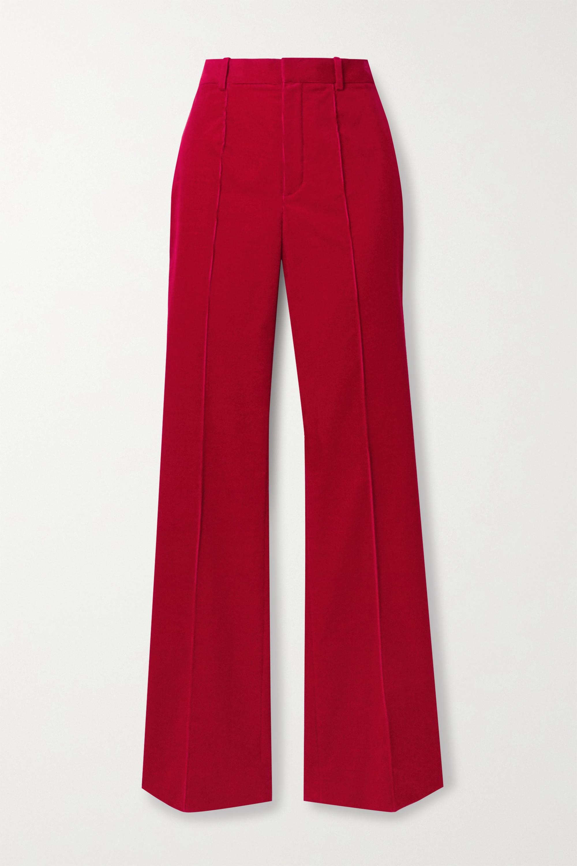 SAINT LAURENT Cotton-corduroy flared pants