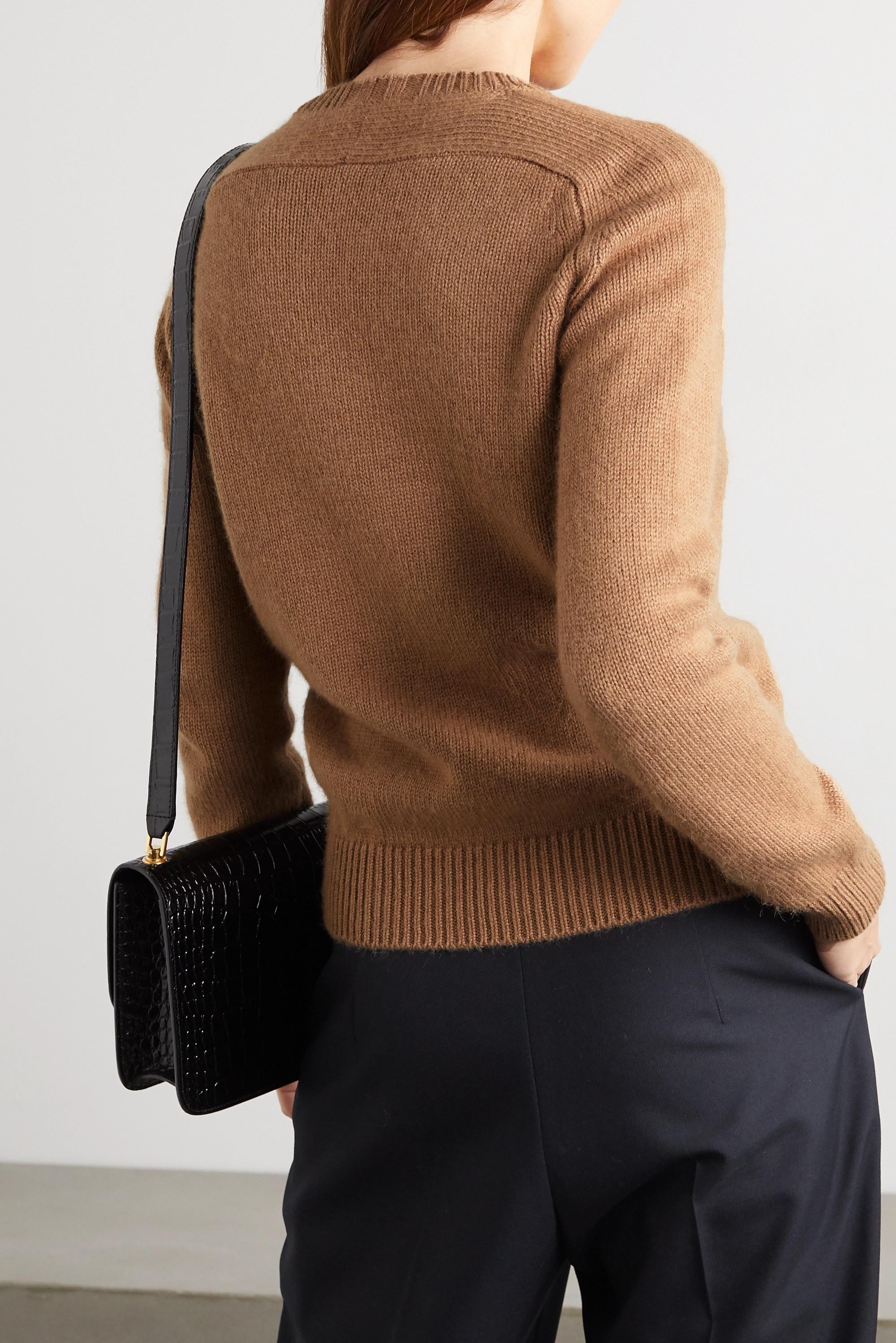 SAINT LAURENT Camel wool sweater