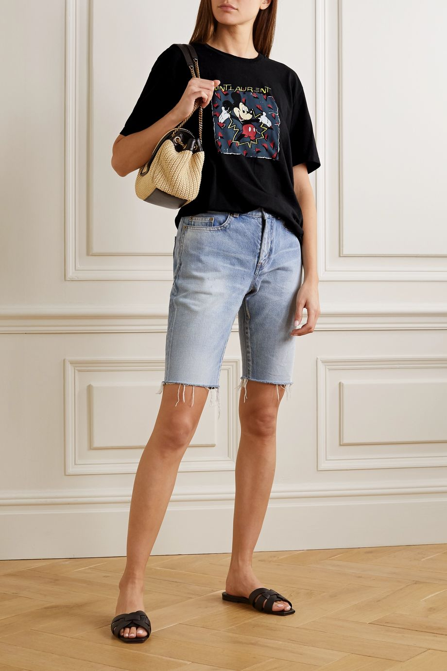 SAINT LAURENT + Disney printed cotton-jersey T-shirt
