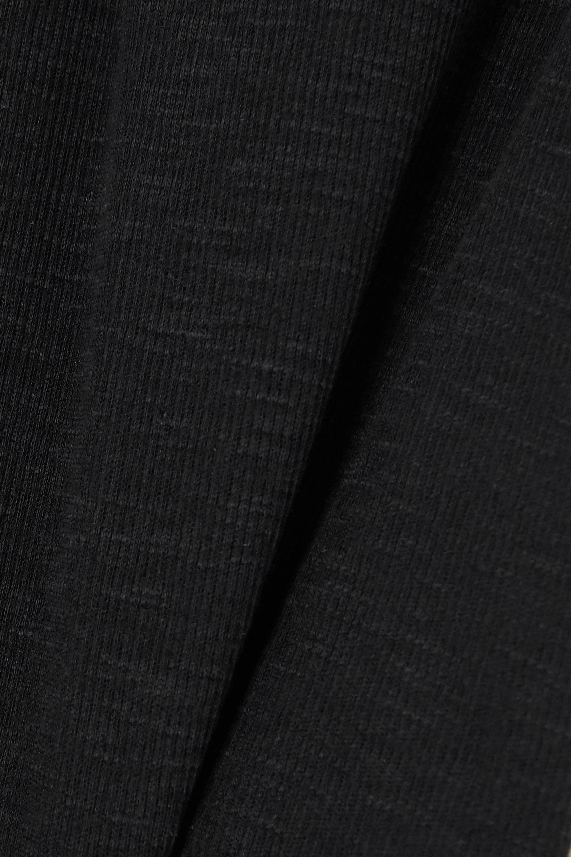 SAINT LAURENT Haut en jersey de coton côtelé