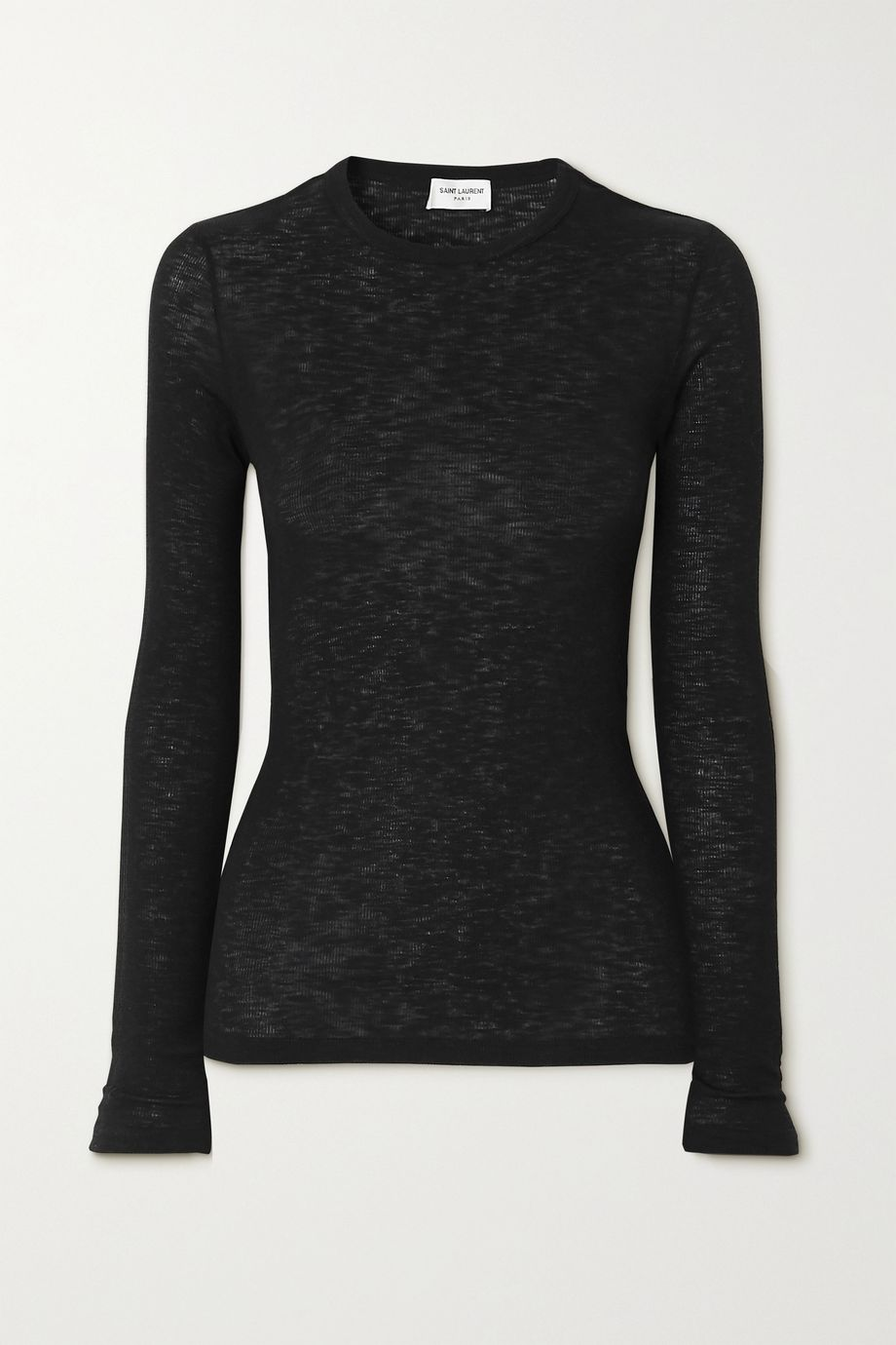 SAINT LAURENT Ribbed cotton-jersey top