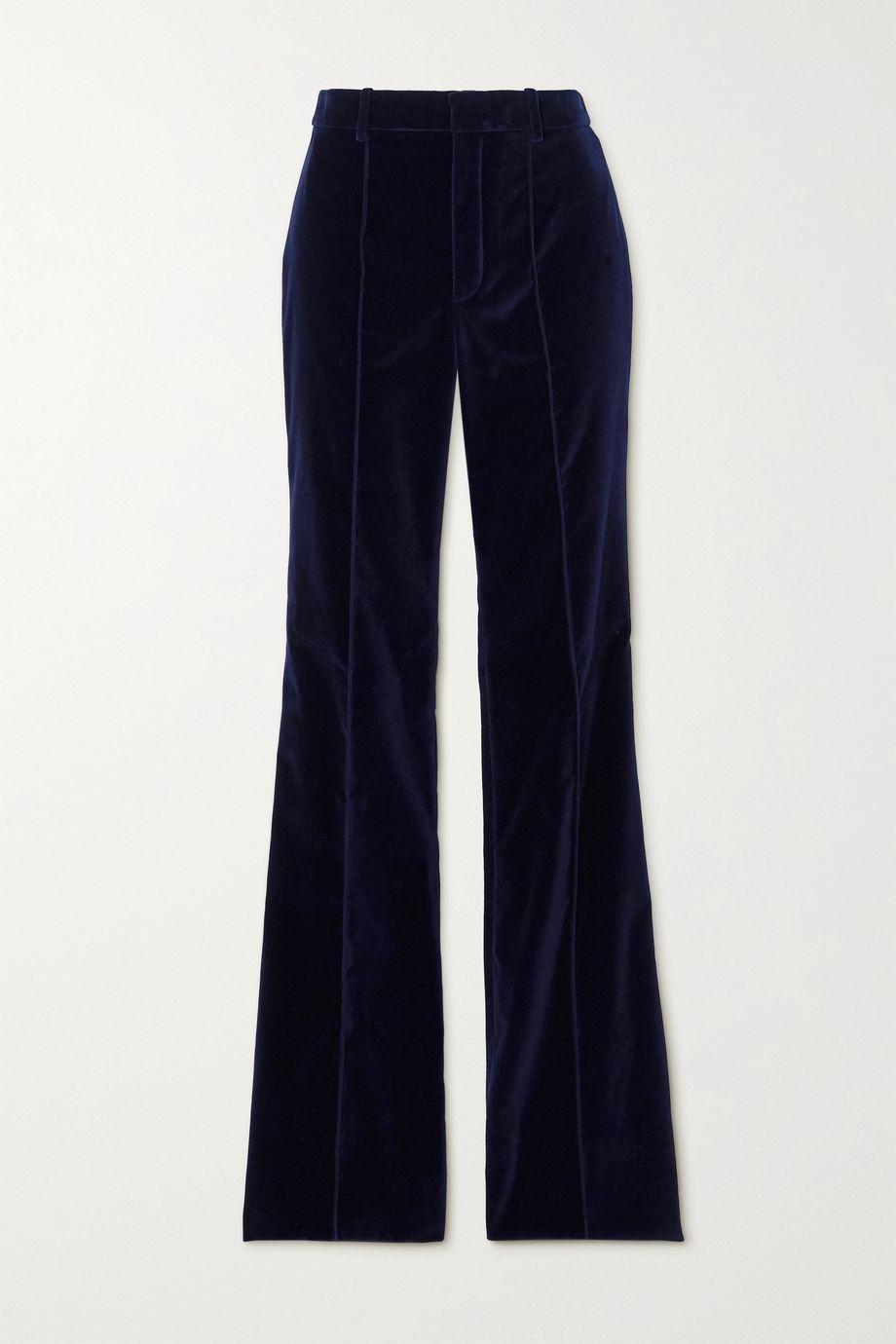 SAINT LAURENT Velvet flared pants