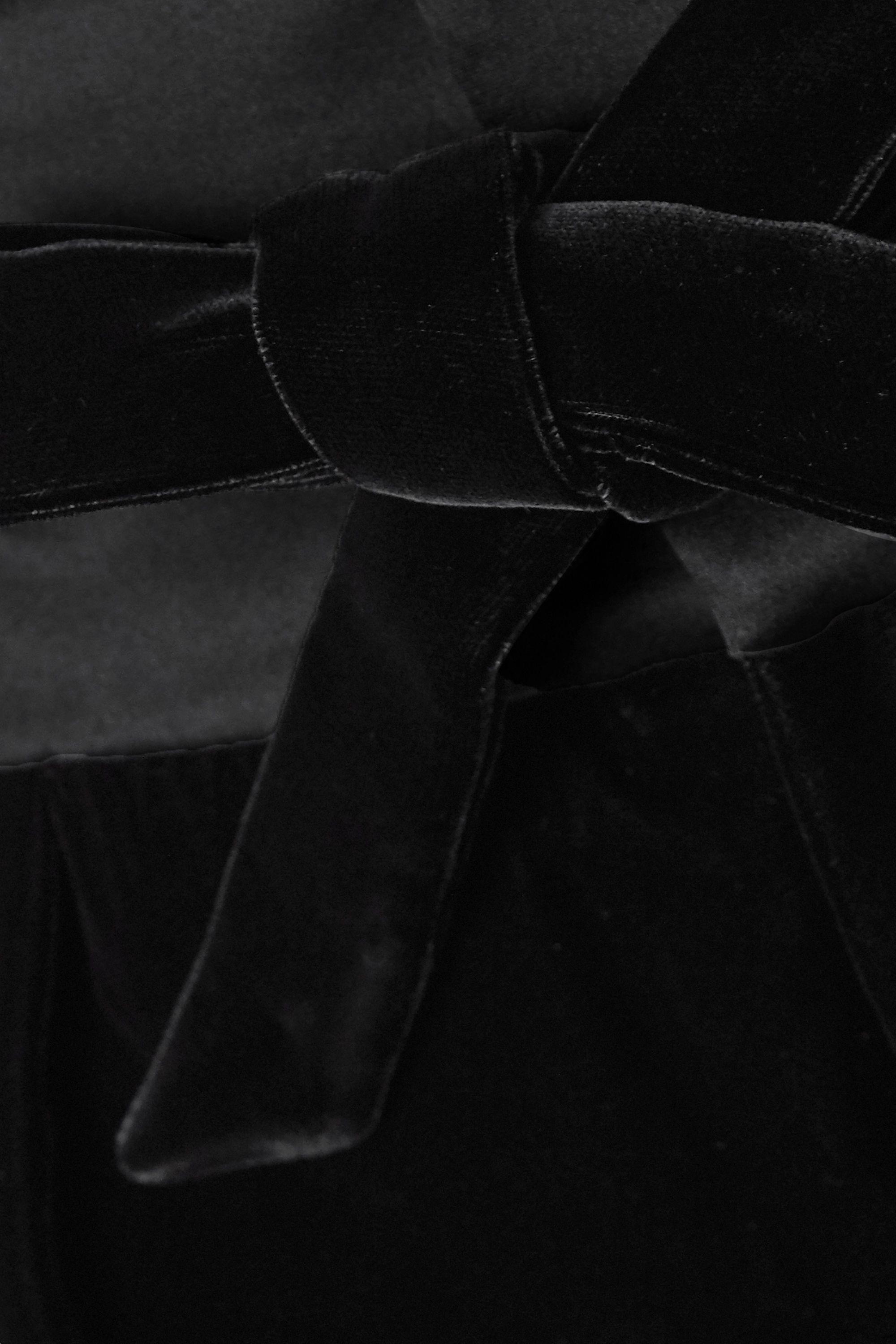 SAINT LAURENT Satin-trimmed velvet shorts