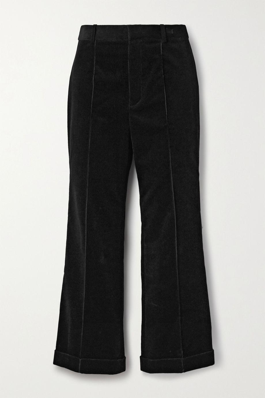 SAINT LAURENT Cotton-corduroy straight-leg pants