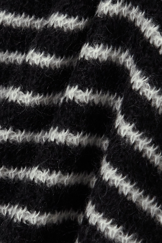 SAINT LAURENT Gestreifter Rollkragenpullover aus einer Mohairmischung