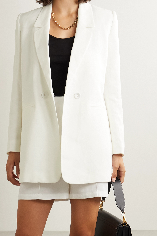Anine Bing Madeline Lyocell, linen and cotton-blend blazer
