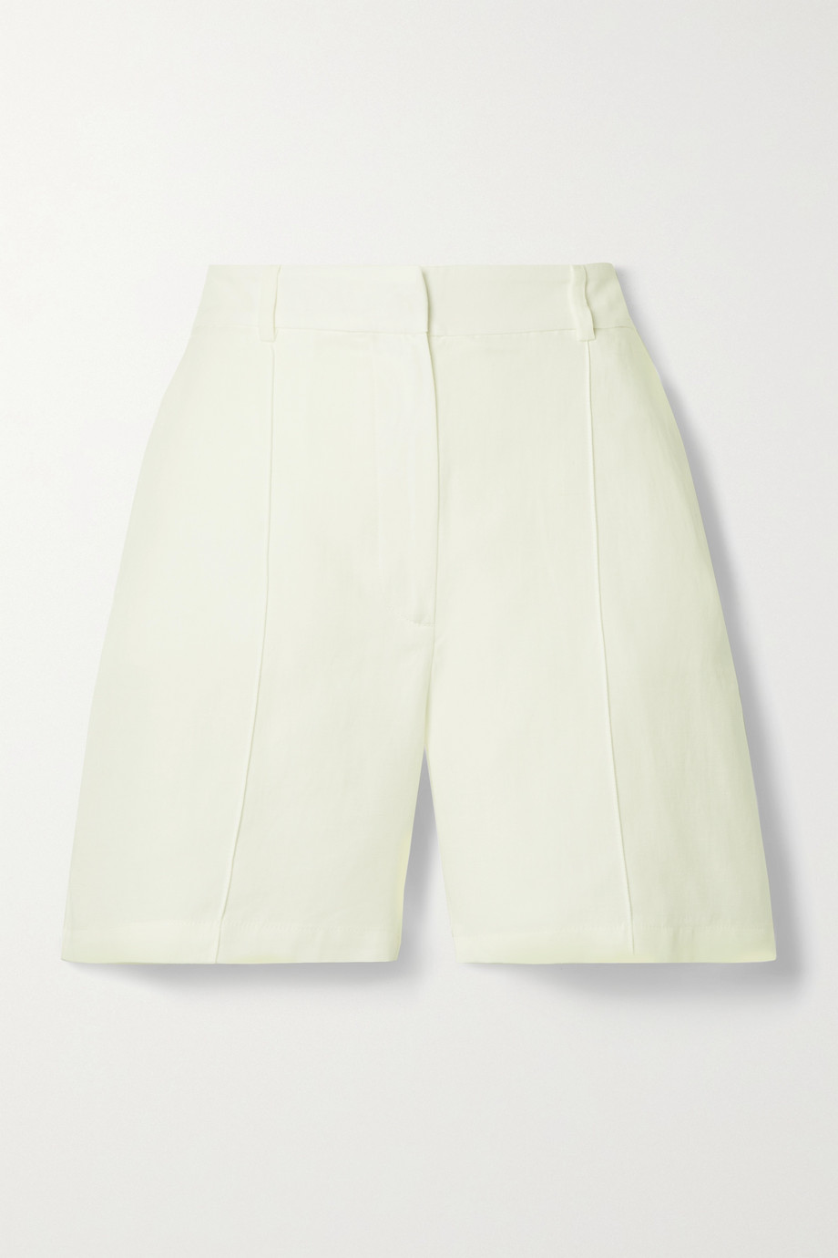 Anine Bing Mila Lyocell, linen and cotton-blend shorts