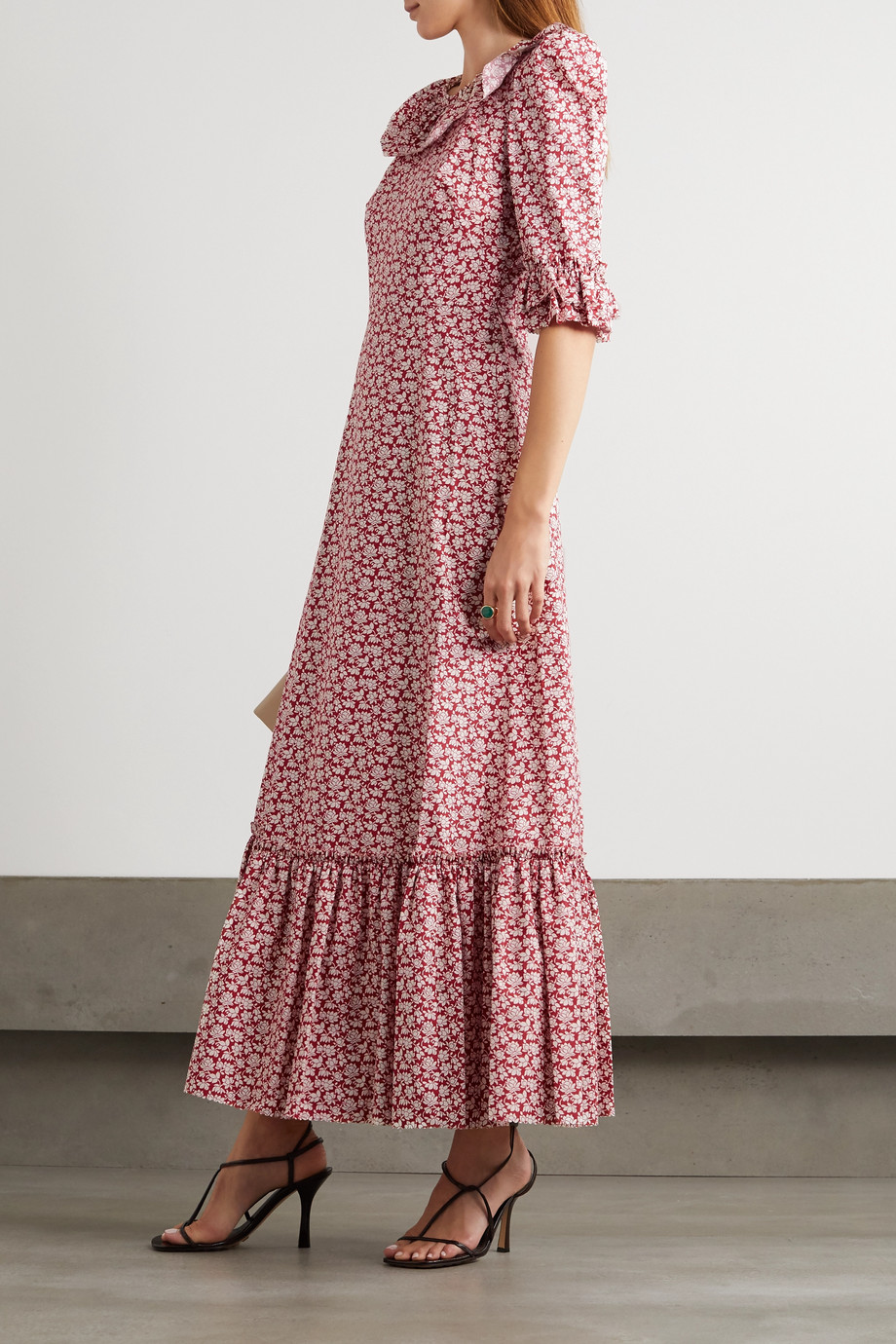 The Vampire's Wife The Gloria ruffled tiered floral-print cotton-poplin maxi dress