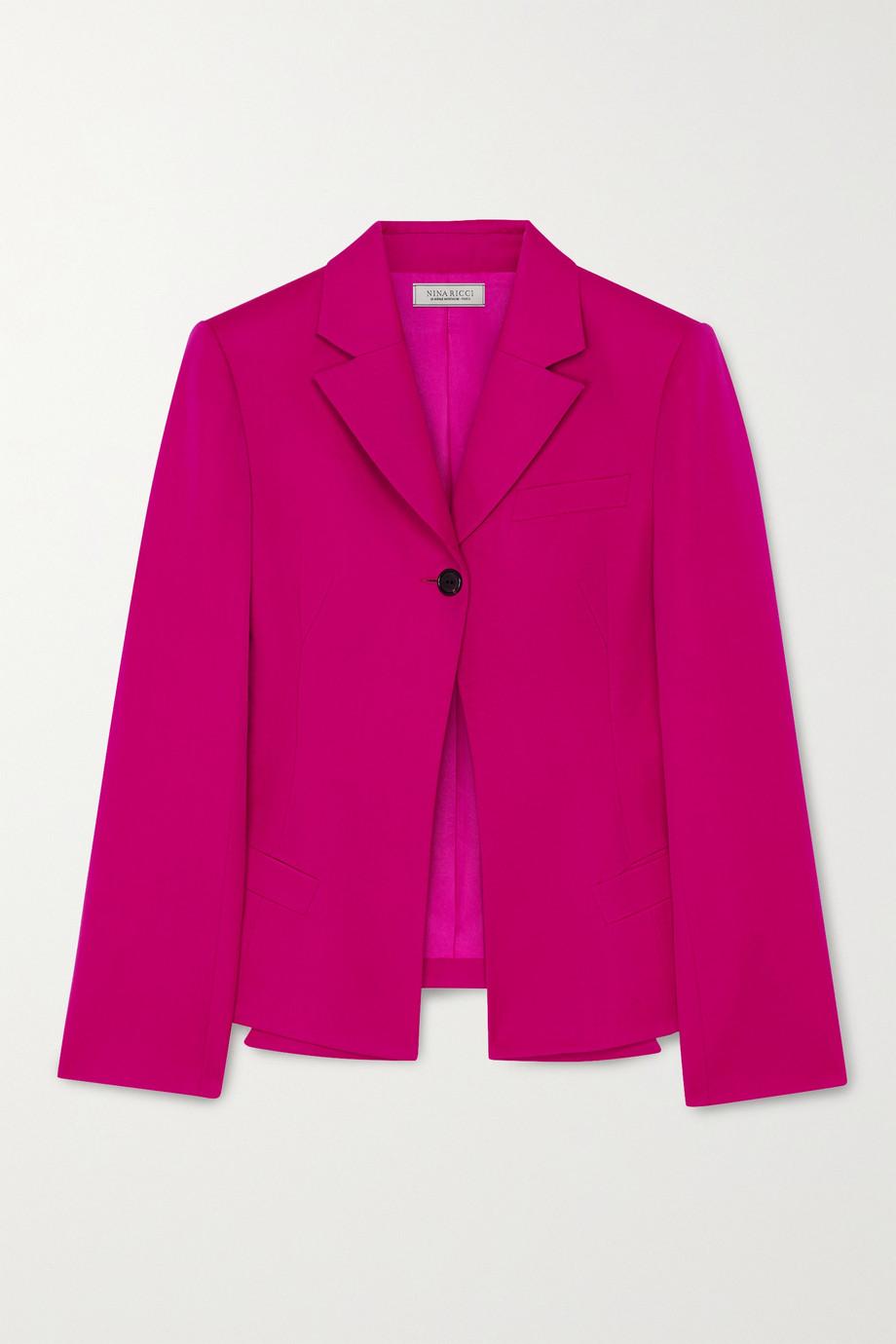 Nina Ricci 羊毛华达呢西装外套