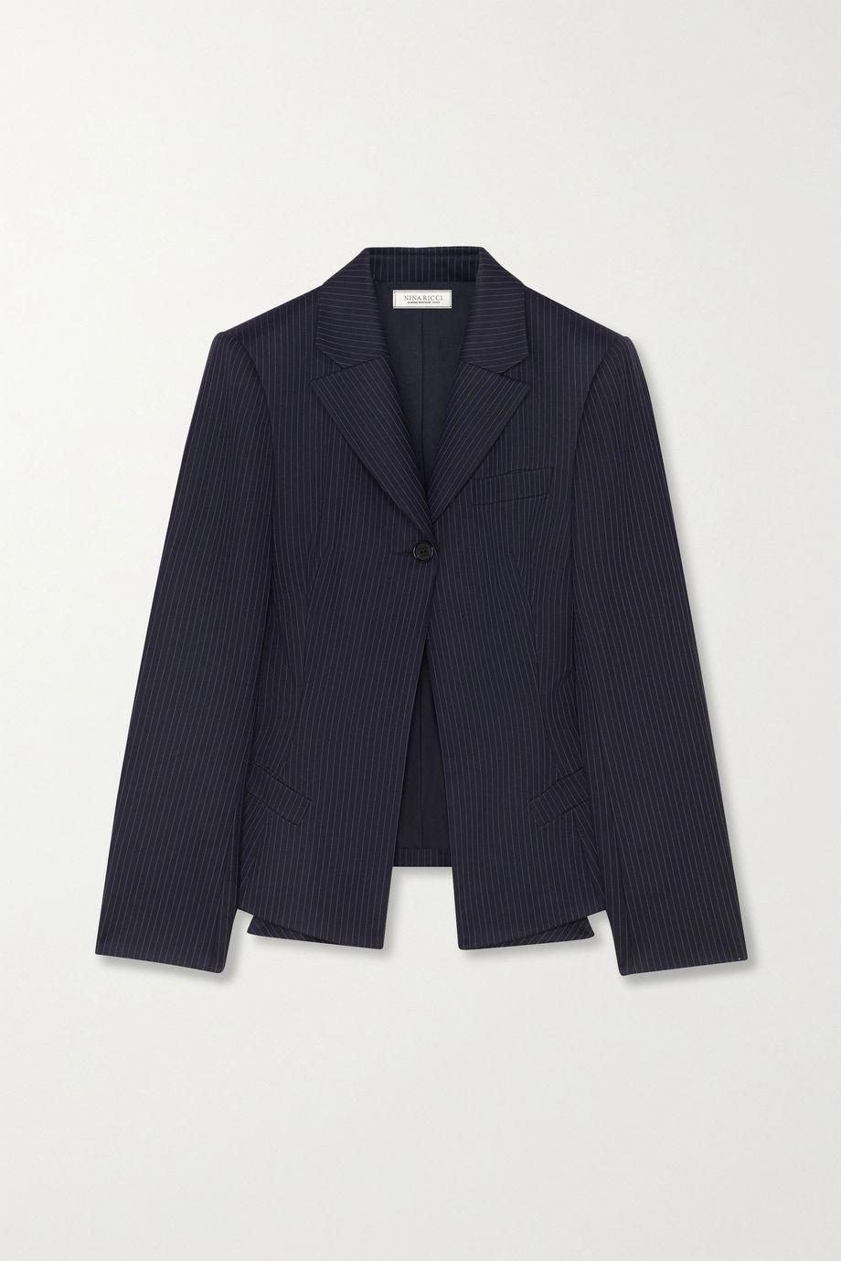 Nina Ricci Pinstriped wool blazer