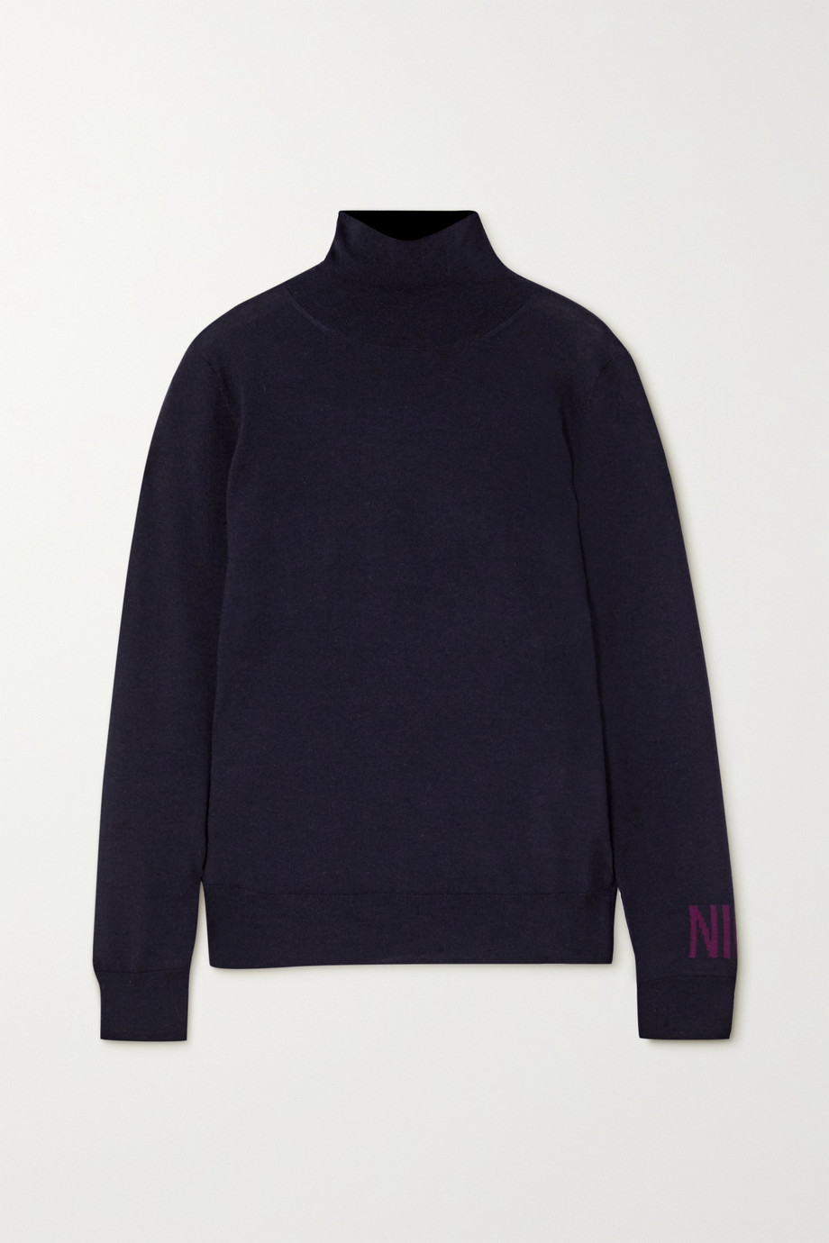 Nina Ricci Intarsia merino wool turtleneck sweater