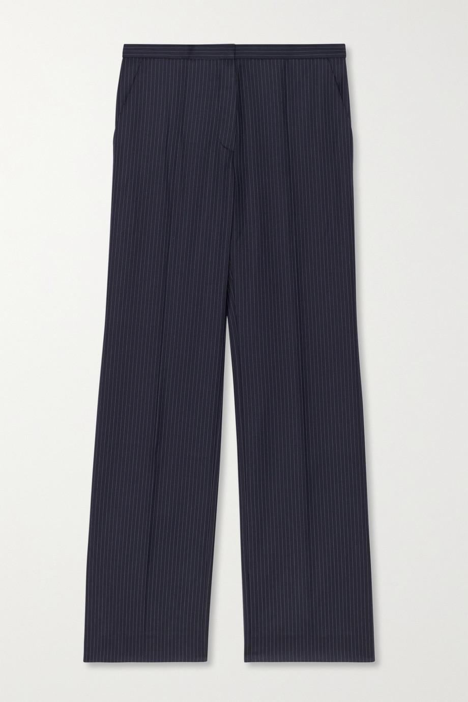 Nina Ricci Cropped pinstriped wool straight-leg pants