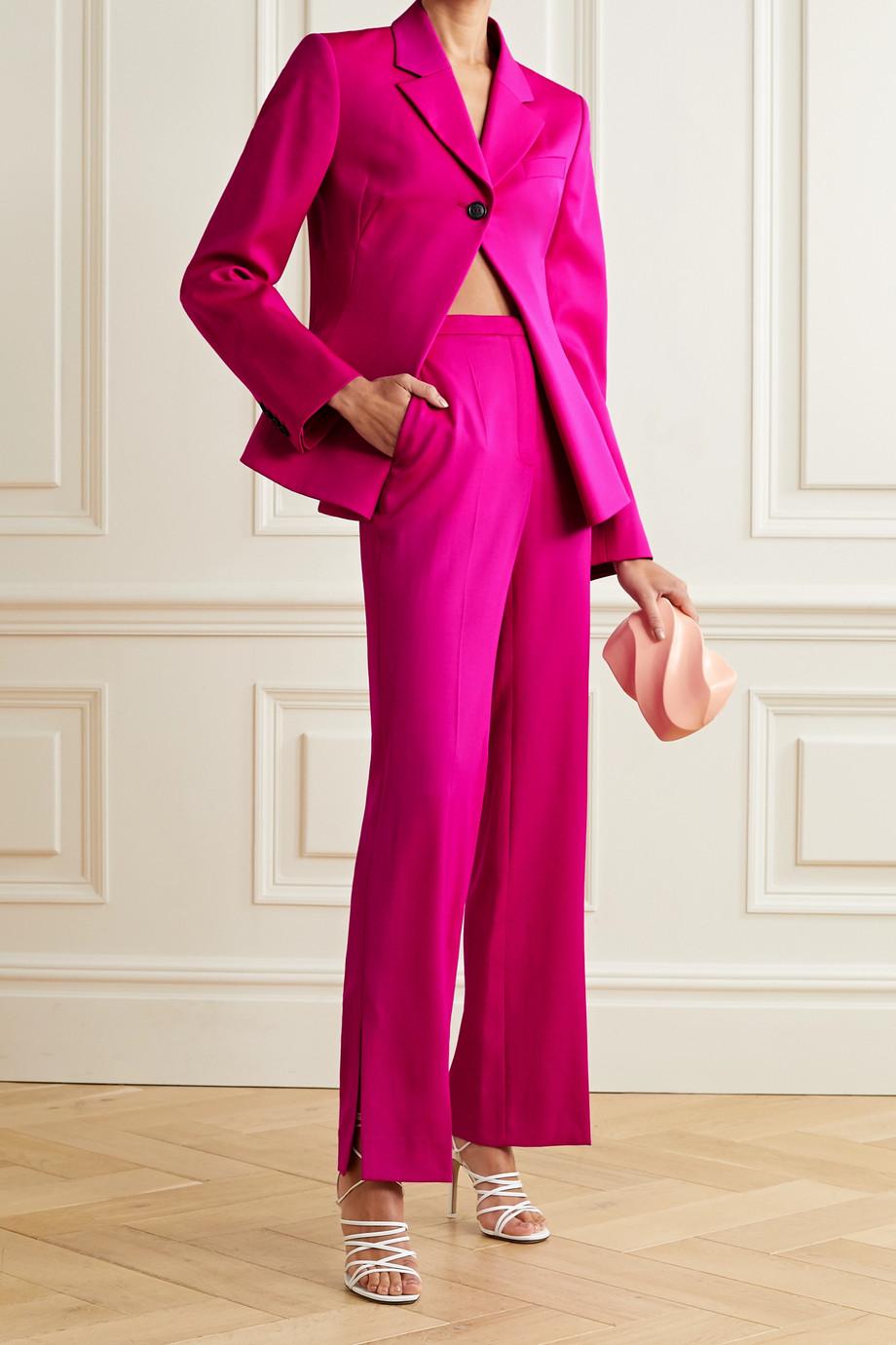 Nina Ricci Wool-gabardine straight-leg pants
