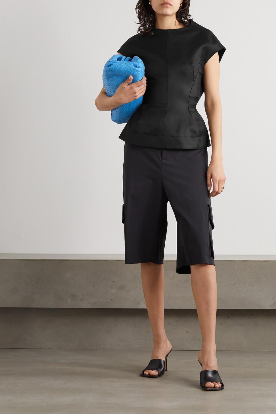 Nina Ricci Bluse aus einer Seiden-Baumwollmischung mit Schößchen