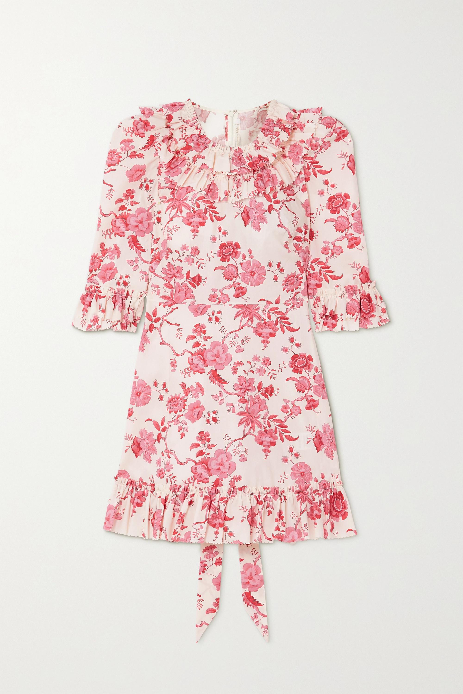 The Vampire's Wife The Gloria ruffled floral-print cotton-poplin mini dress