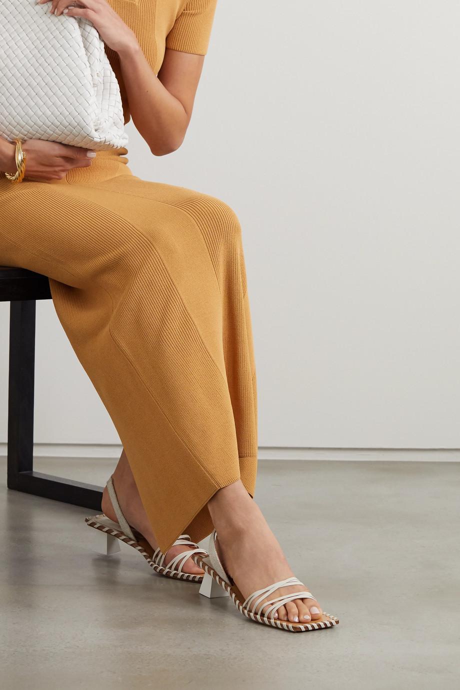 Jacquemus Valerie Slingback-Sandalen aus Leder und Canvas