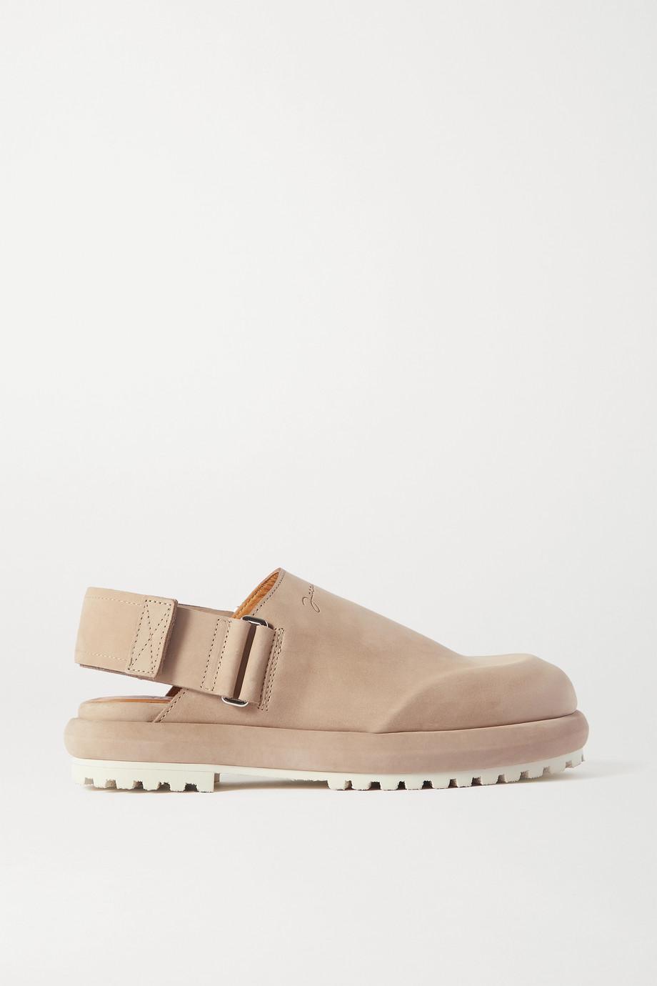 Jacquemus 绒面革露跟平底鞋