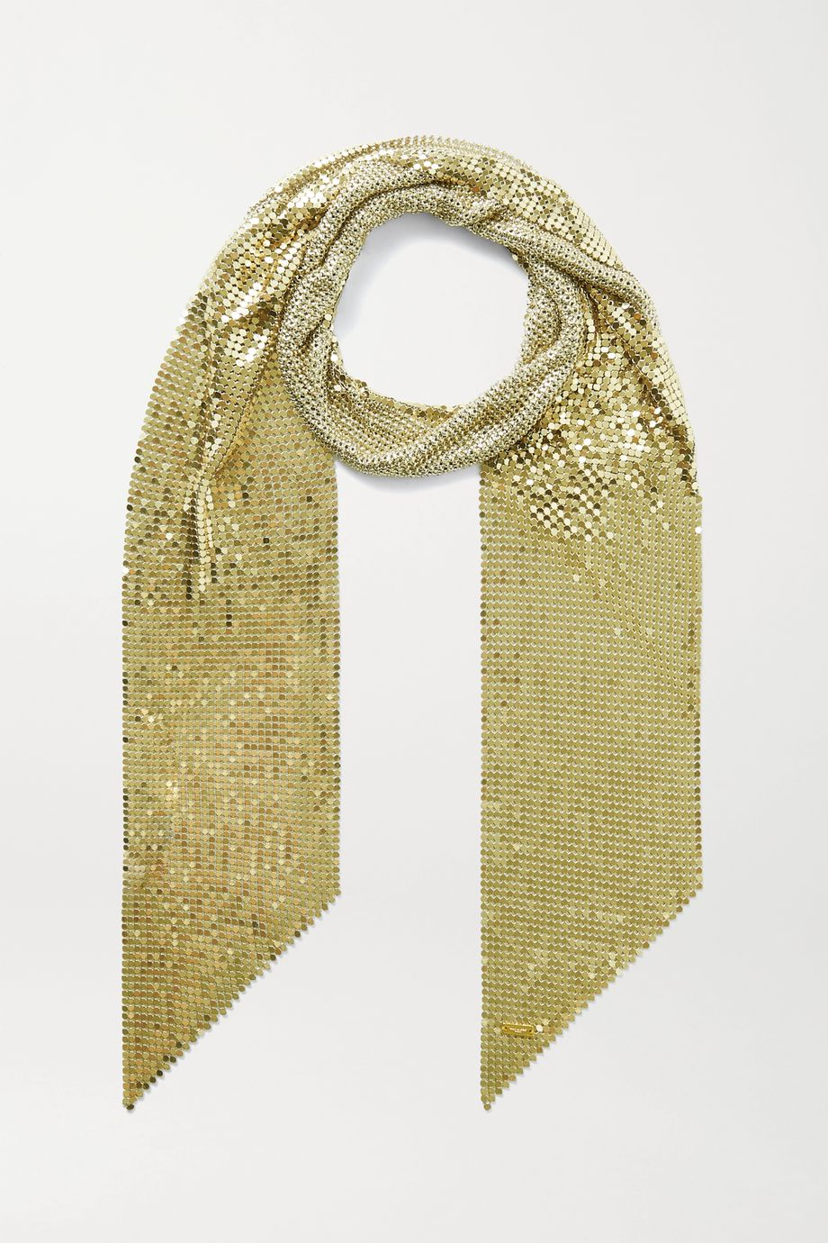 SAINT LAURENT Gold-tone chainmail scarf