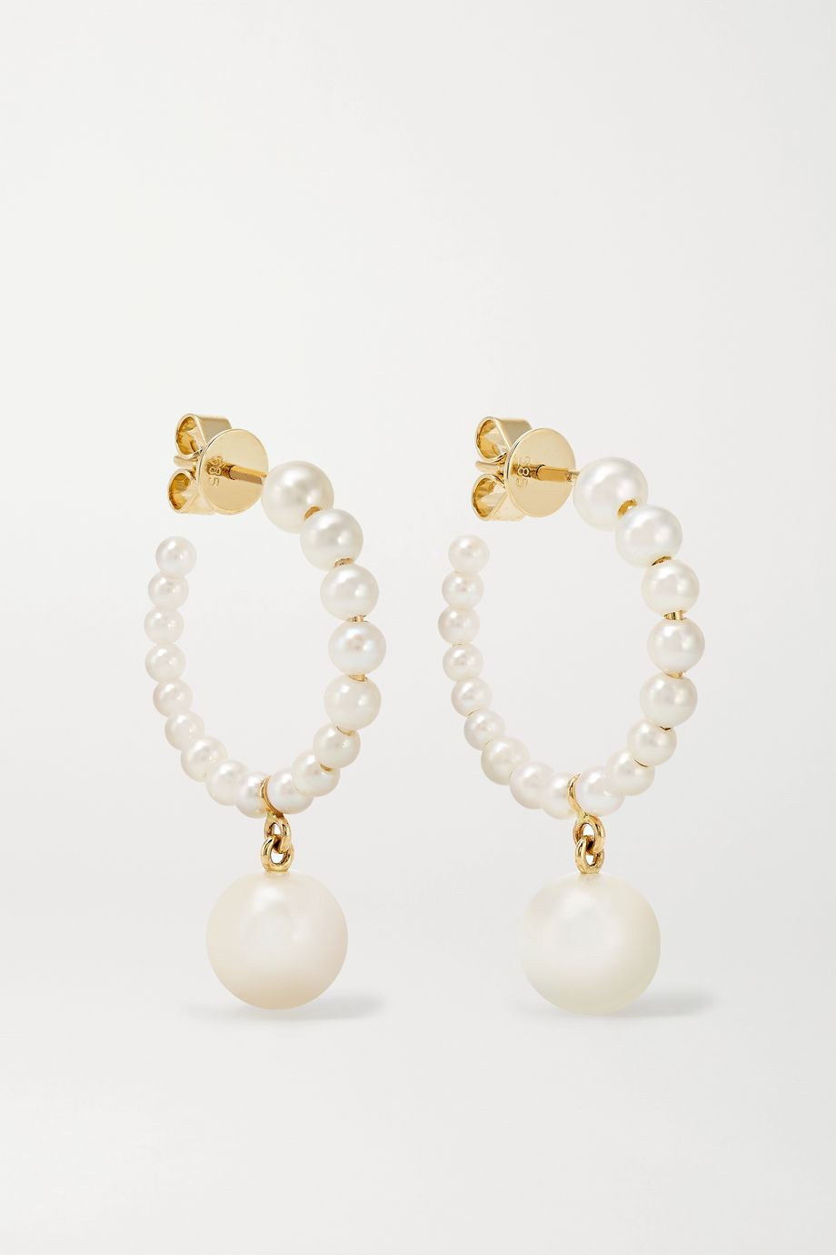 Sophie Bille Brahe Boucle Marco Perle 14K 黄金珍珠耳环
