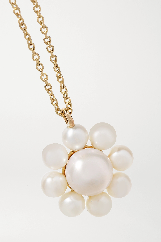 Sophie Bille Brahe Margherita 14-karat gold pearl necklace