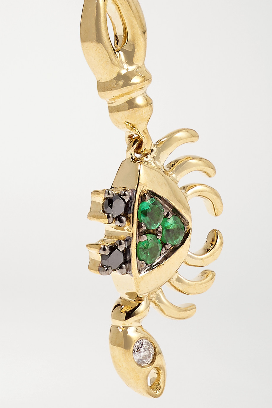 Yvonne Léon 9-karat gold, tsavorite and diamond earring