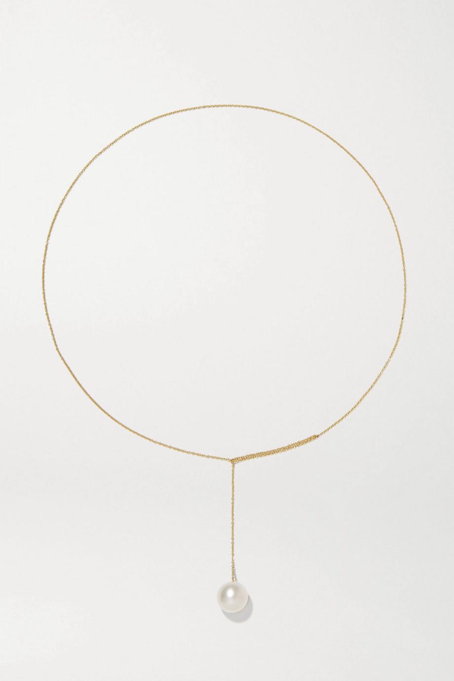 Sophie Bille Brahe Sirene Perle 14-karat gold pearl necklace