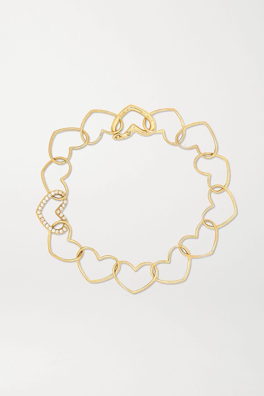 Yvonne Léon 9-karat gold diamond bracelet