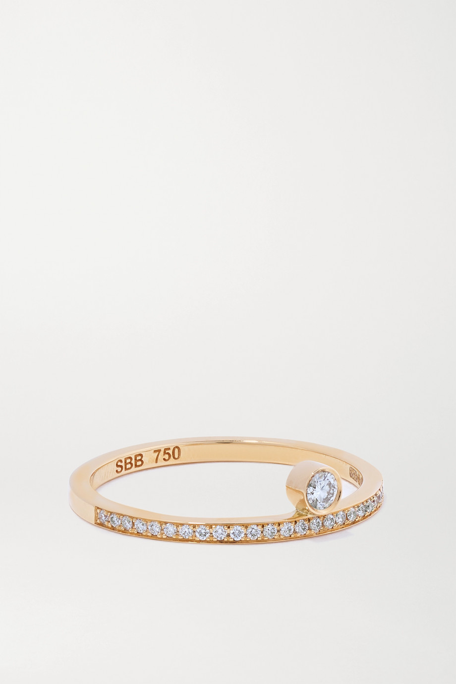 Sophie Bille Brahe Rue du Soleil 18-karat gold diamond ring