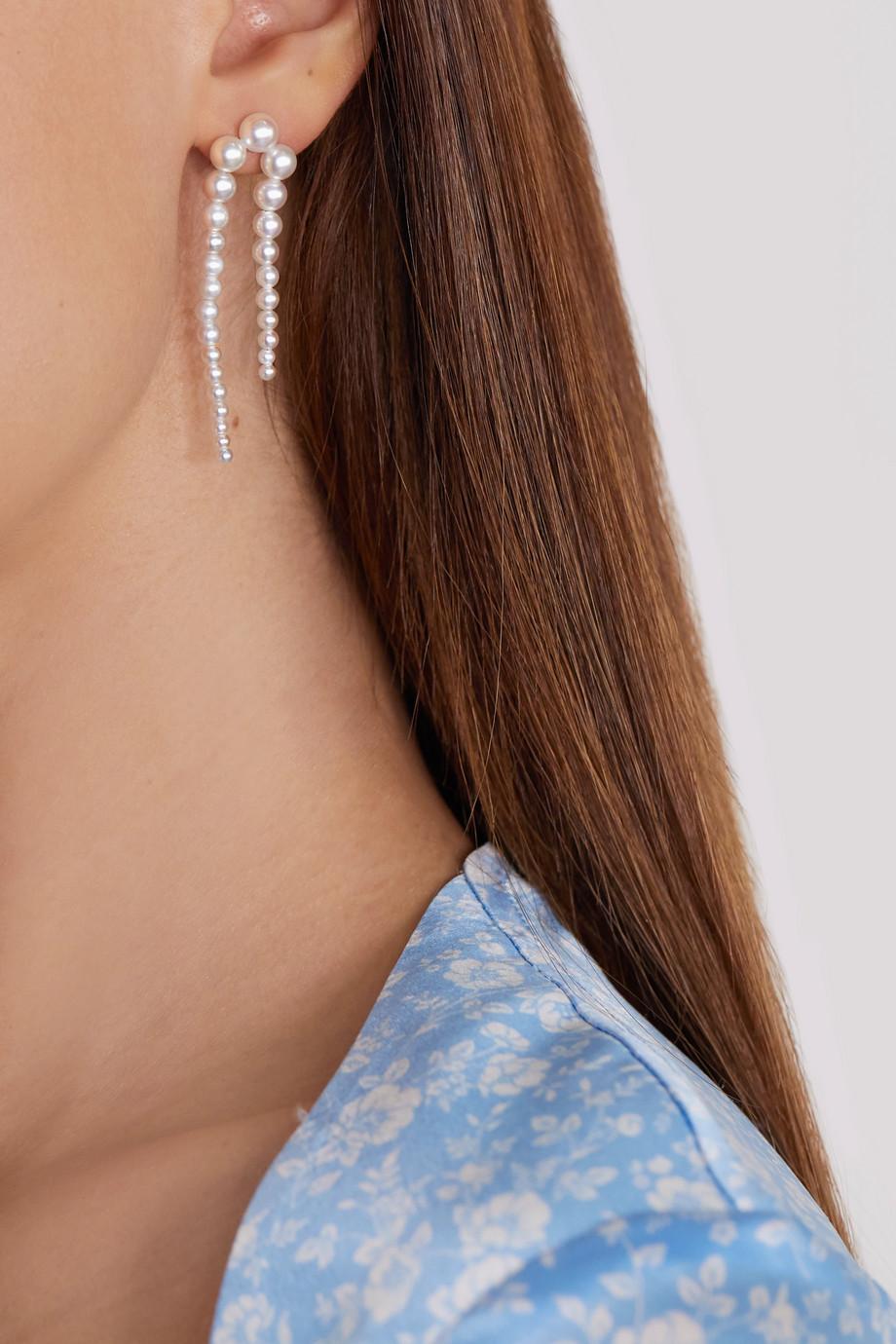 Sophie Bille Brahe Perle Nuit Ohrring aus 14 Karat Gold mit Perlen