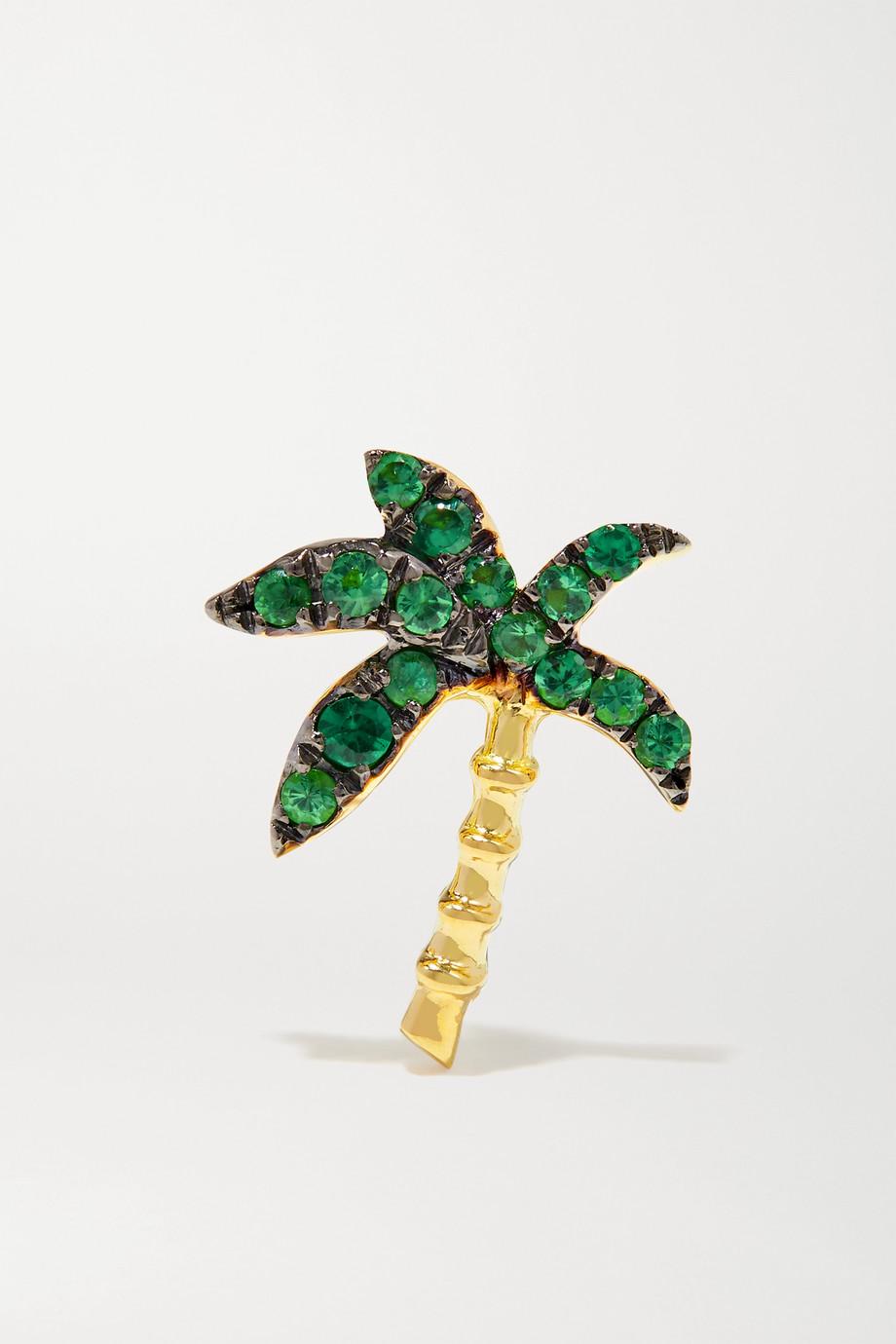 Yvonne Léon 18-karat gold tsavorite earring