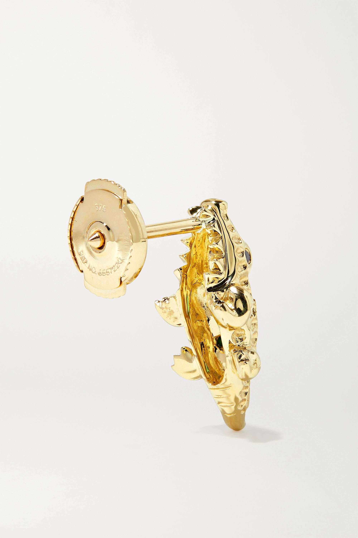 Yvonne Léon Ohrring aus 9 Karat Gold mit Diamanten und Tsavoriten