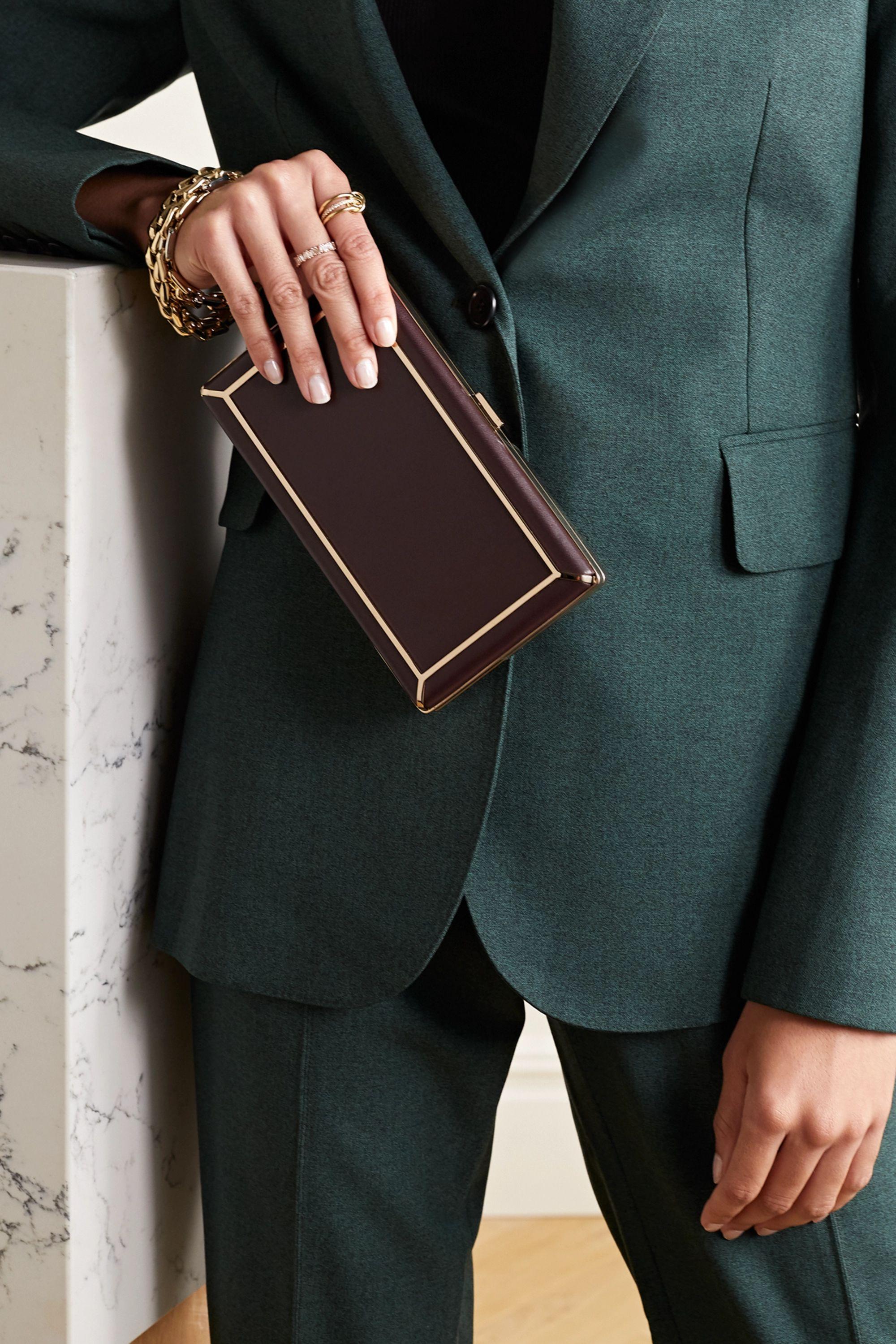 Gabriela Hearst Callas leather clutch