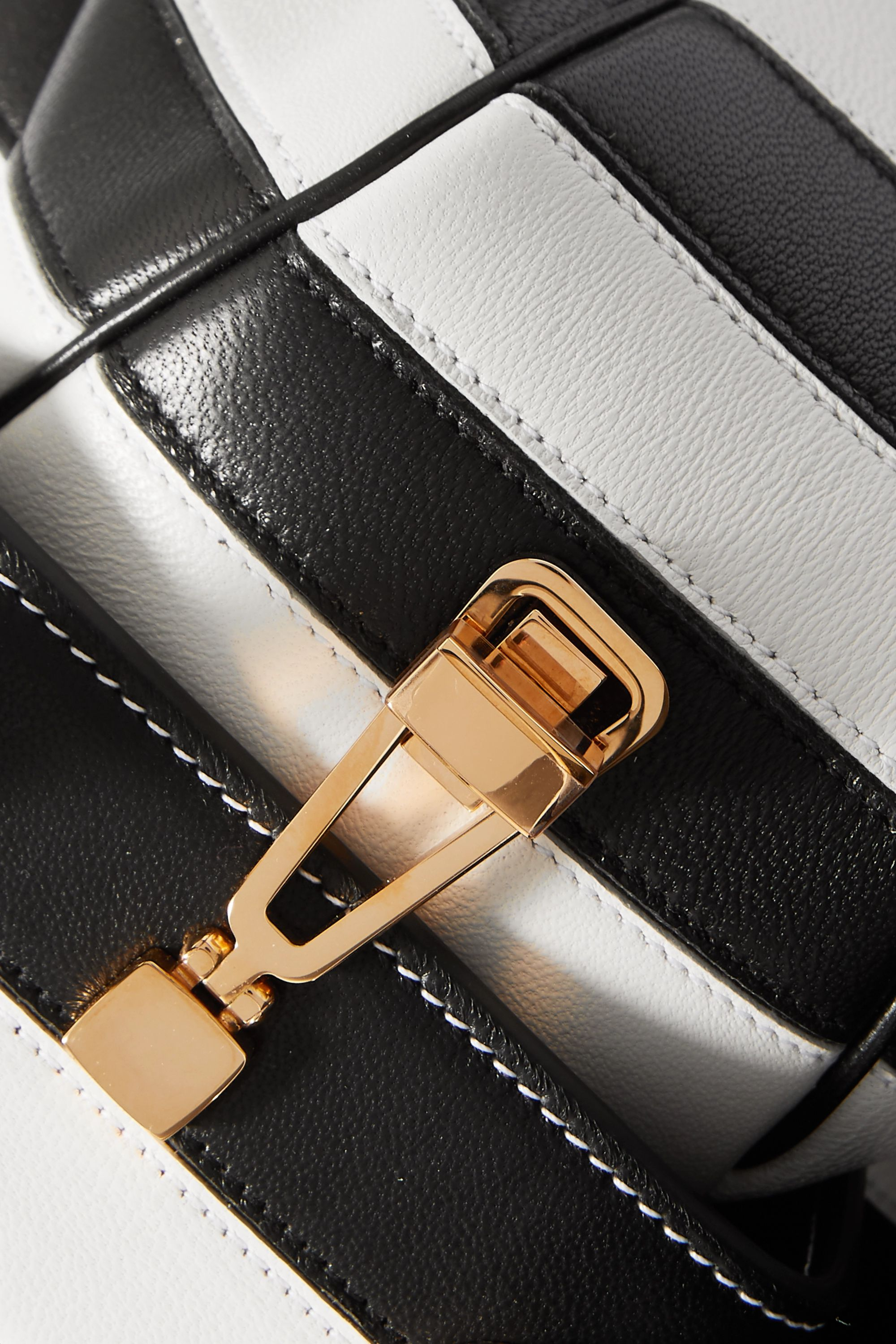 Gabriela Hearst Nina striped leather tote