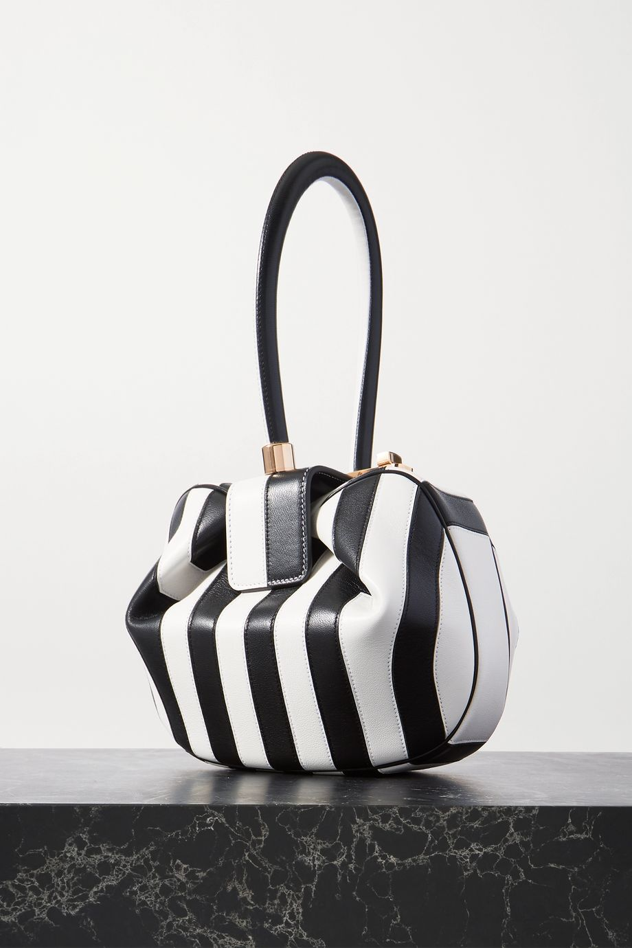 Gabriela Hearst Nina striped leather tote
