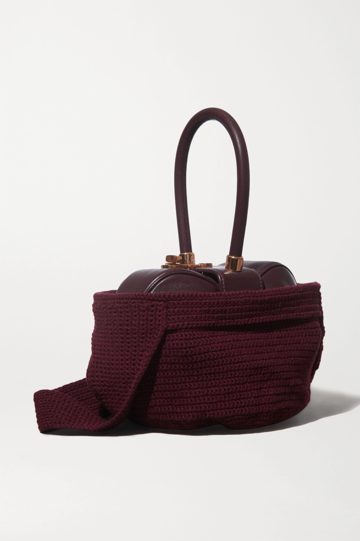 Gabriela Hearst Nina crocheted cashmere tote cover